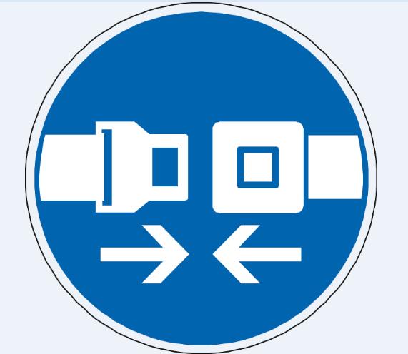 cinturon de seguridad, ilustración