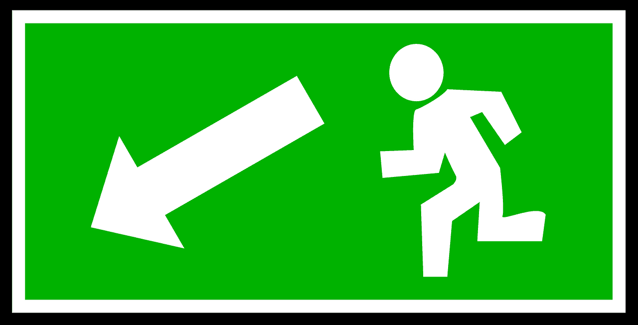 Salida de emergencia. Ilustración