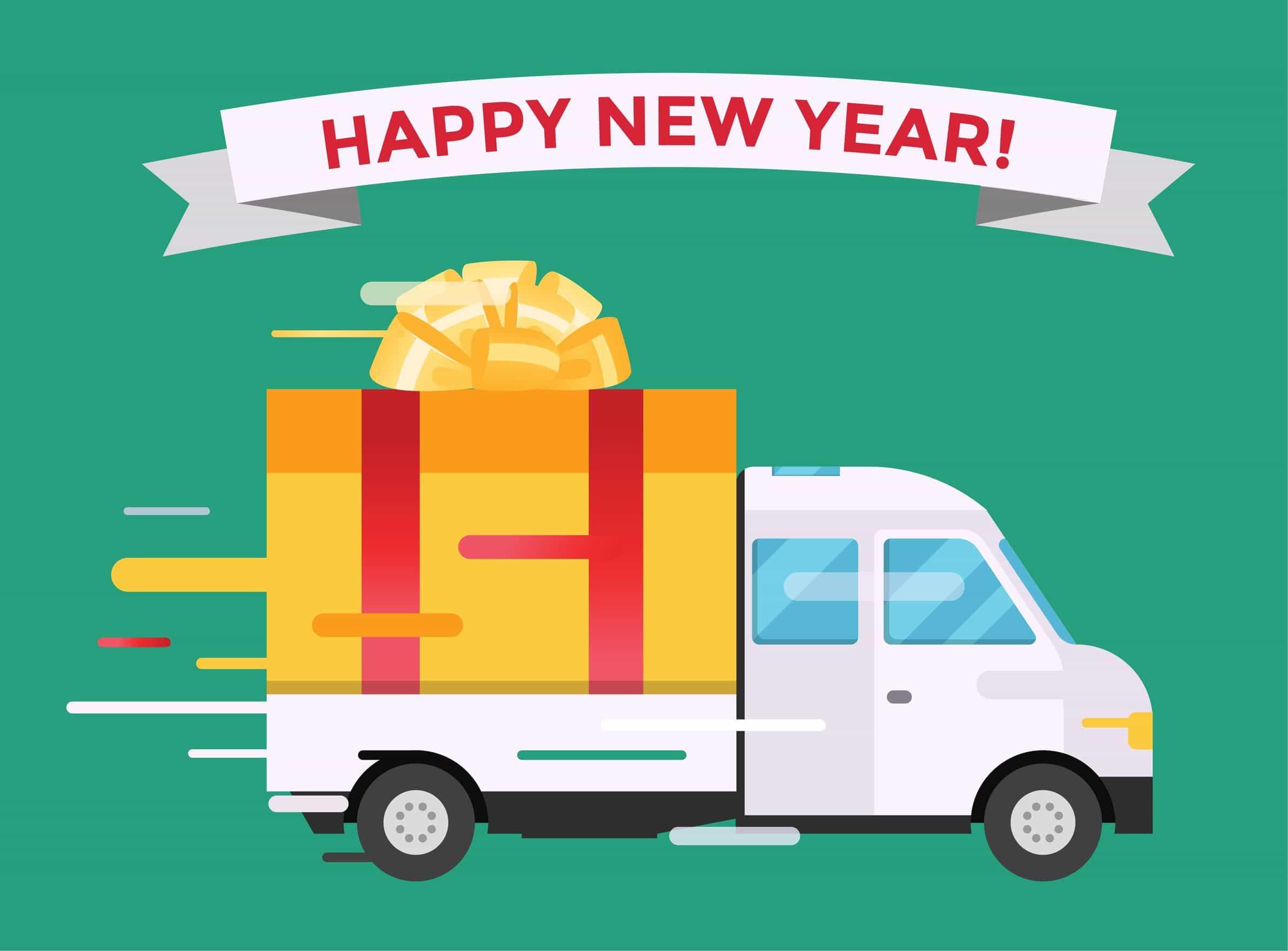 Feliz Año nuevo, ilustración