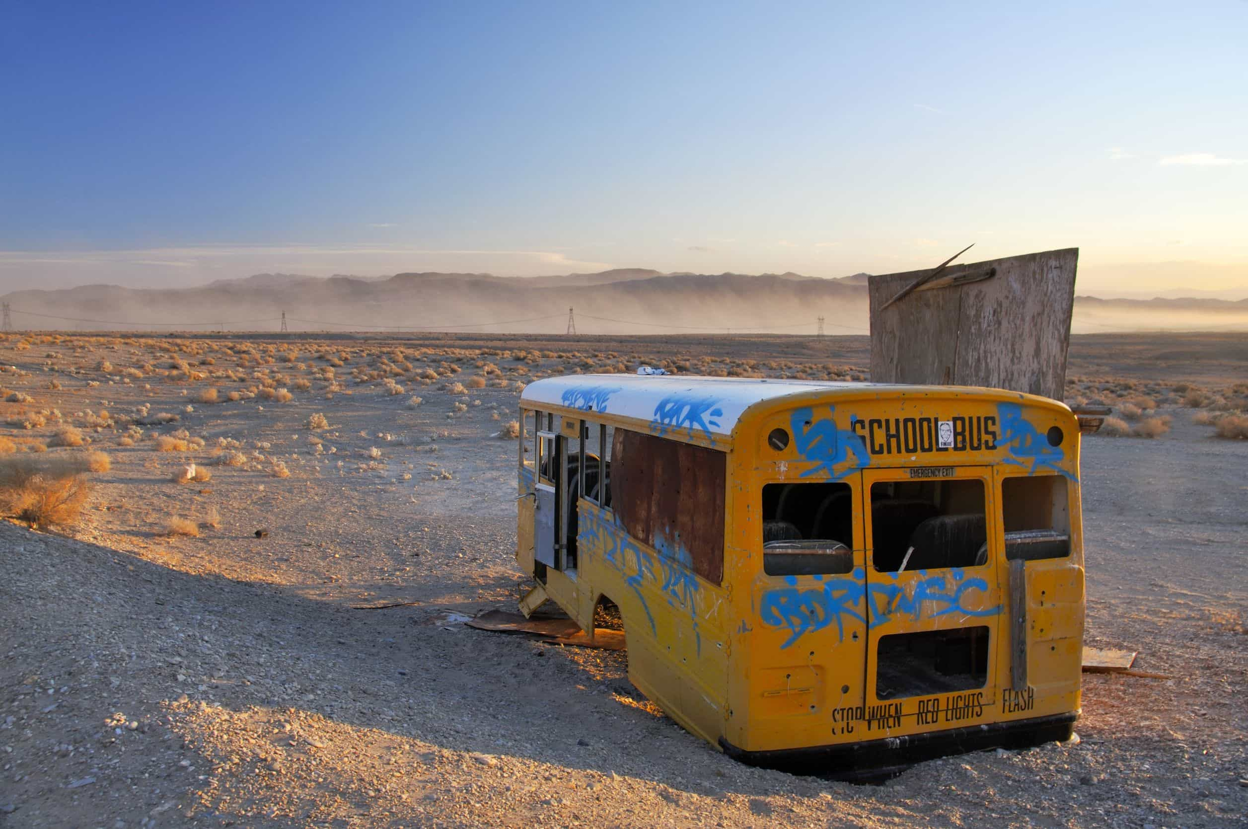 autocar abandonado