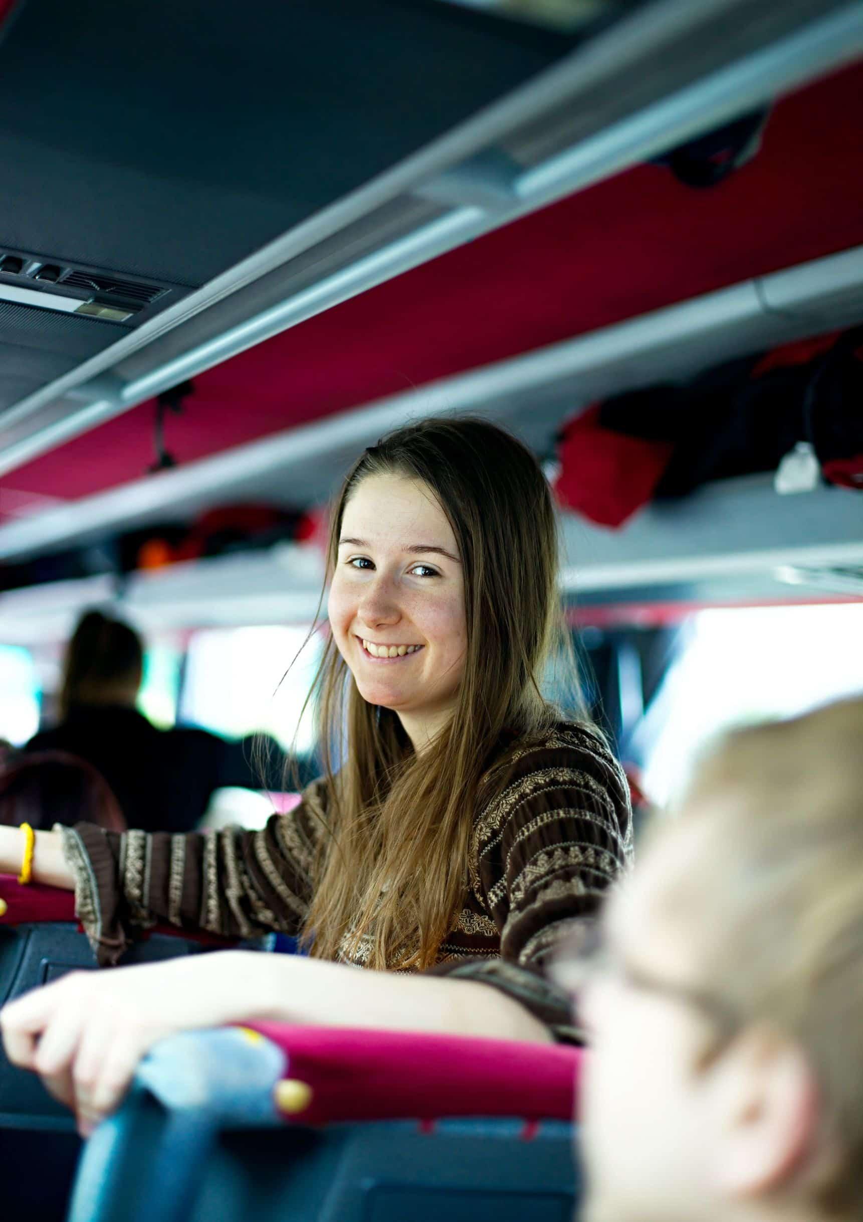 niños autocar